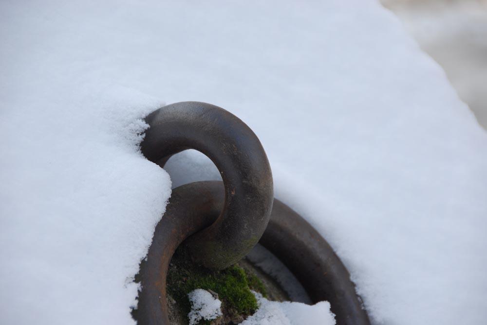 anlegestelle im Winter