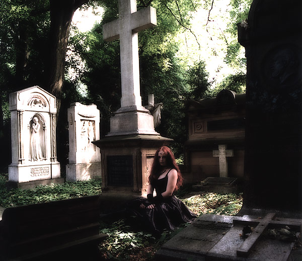 Anna auf dem Hauptfriedhof