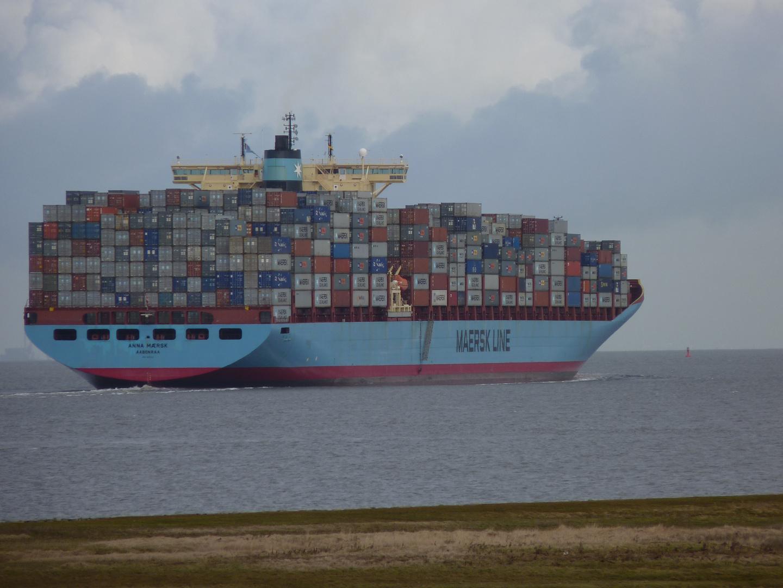 Anna Maersk von Cuxhaven-Altenbruch