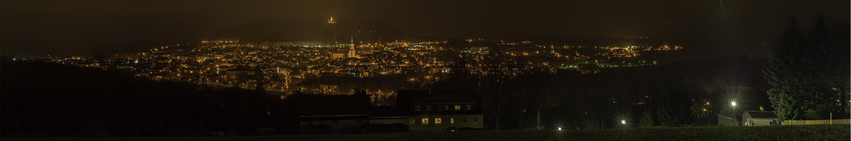 Annaberg - Buchholz bei Nacht