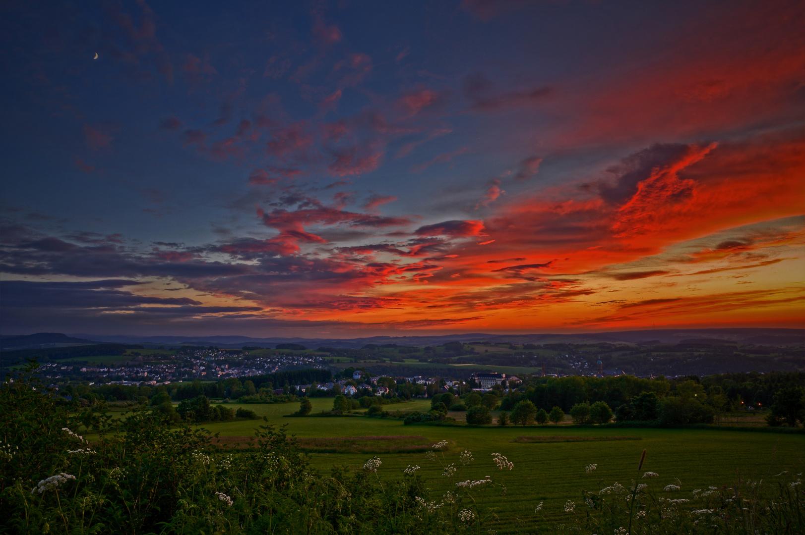 Annaberg-Sonnenuntergang