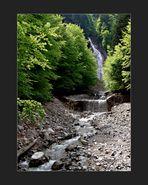 Annäherung an einen Wasserfall