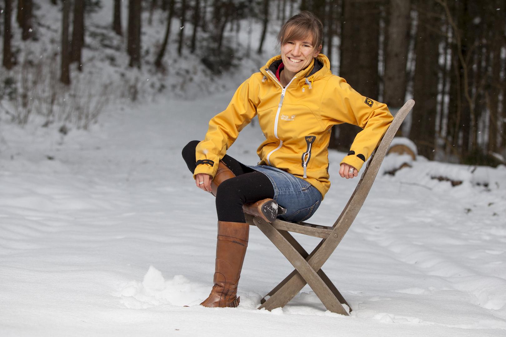 Anne im Schnee 2