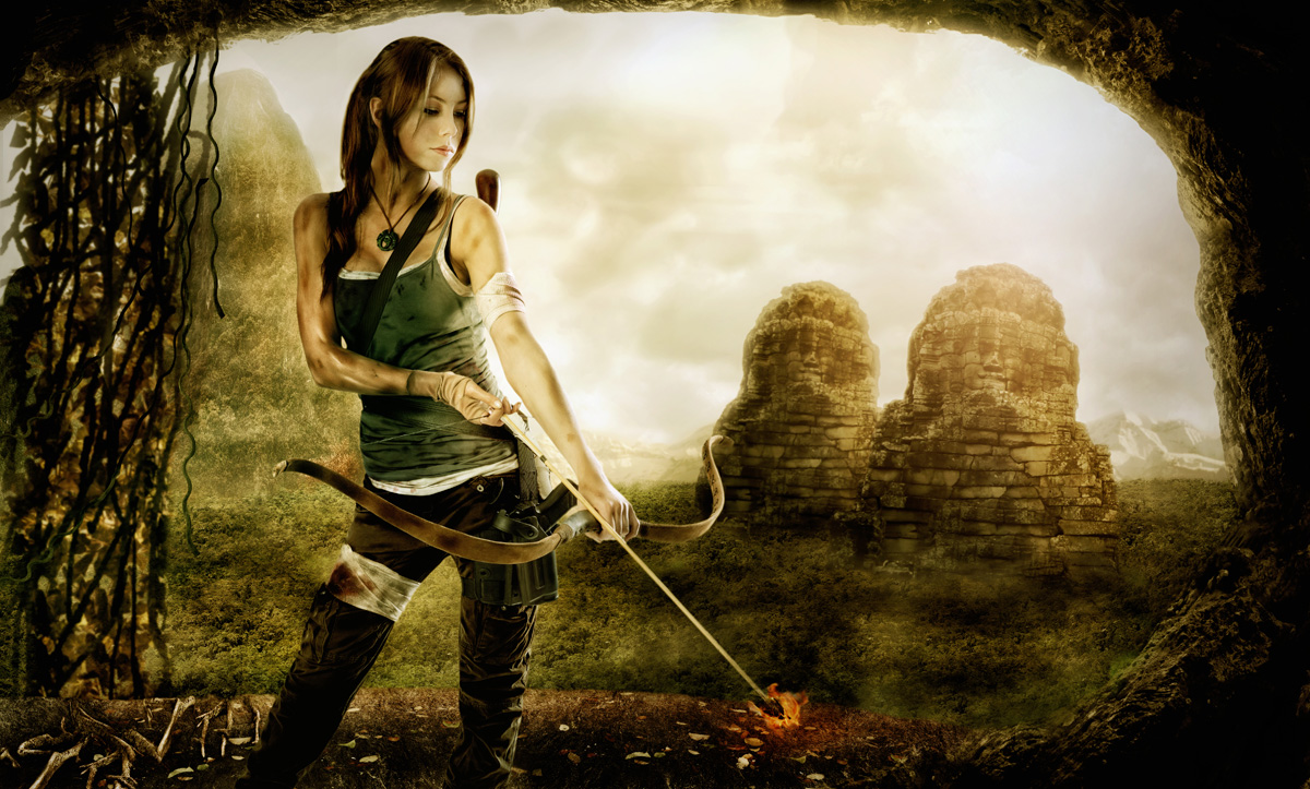 Annie as Lara Croft