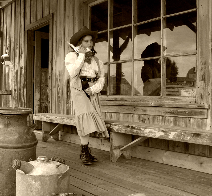 "Annie Oakley or ""The long hand of the law"""
