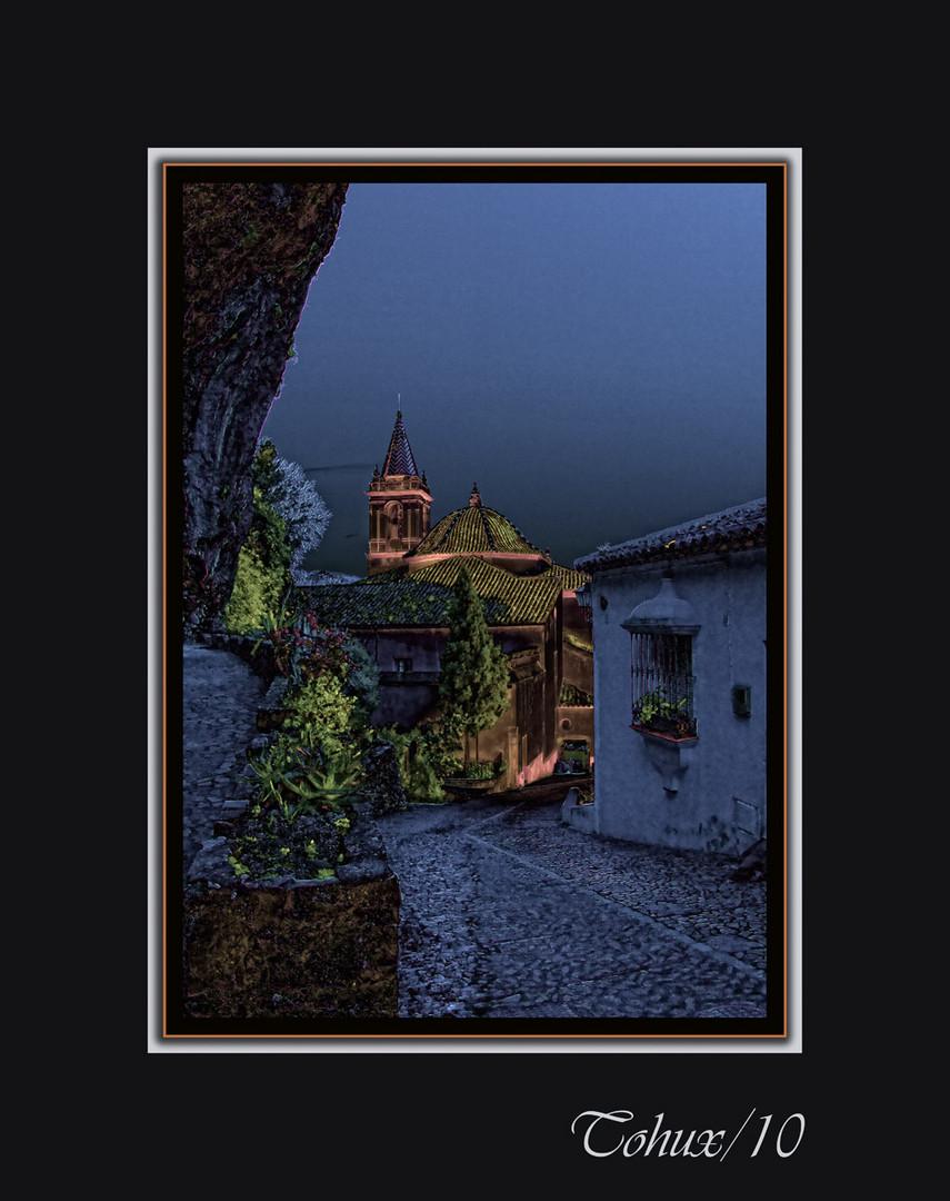 Anochecer en Zahara de la Sierra