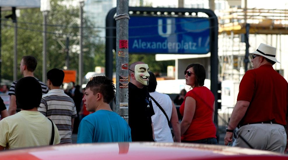 anonym in der großstadt