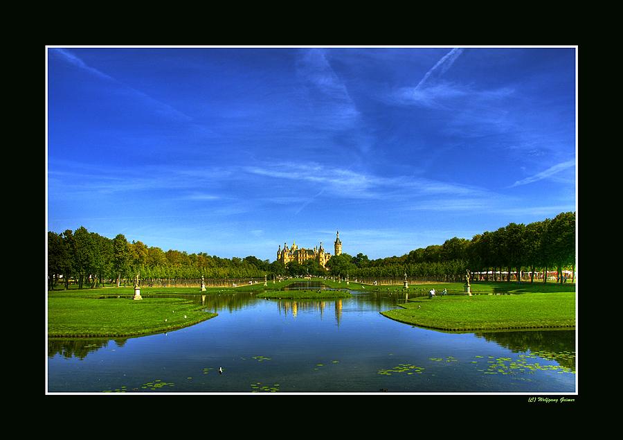 Ansichten des Schweriner Schlosses während der BUGA 2009/2