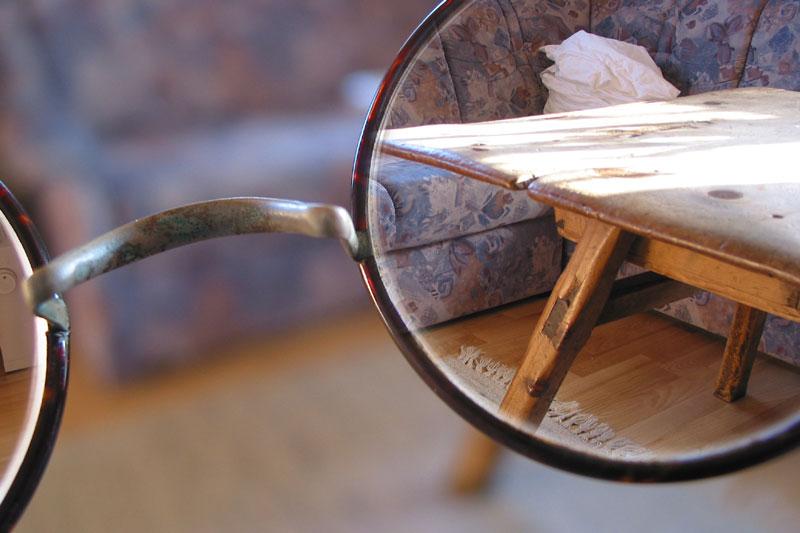 Ansichten mit und ohne Brille