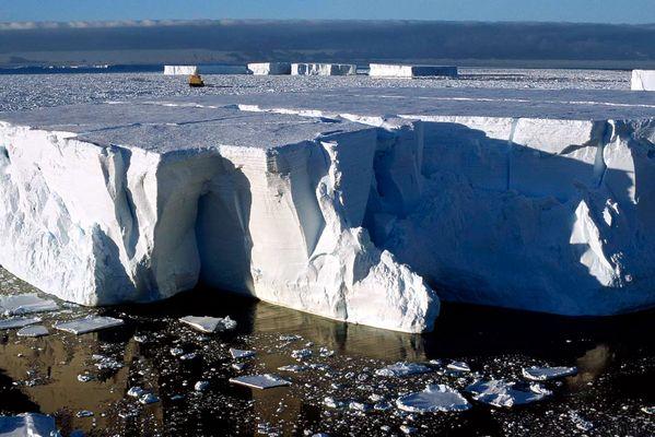 Antarctique, Iceberg tabulaire