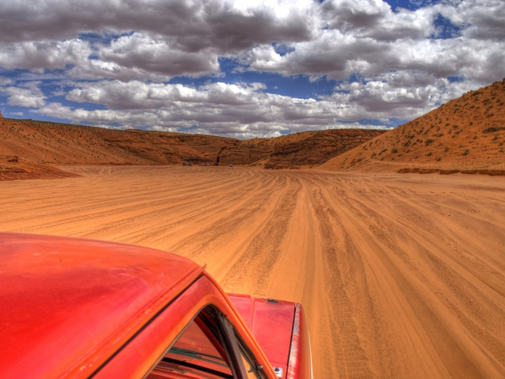 Antelope Canyon vom Pick-Up