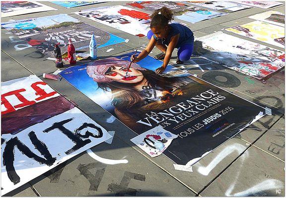Anti-pub. Atelier de détournement d'affiches...