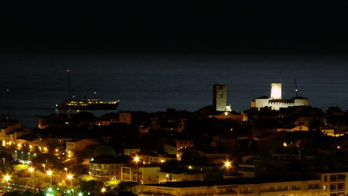 Antibes by night