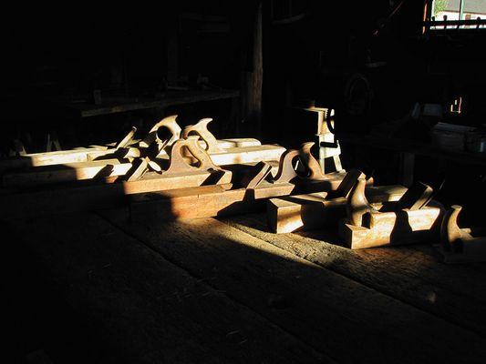 Antique wooden block planes