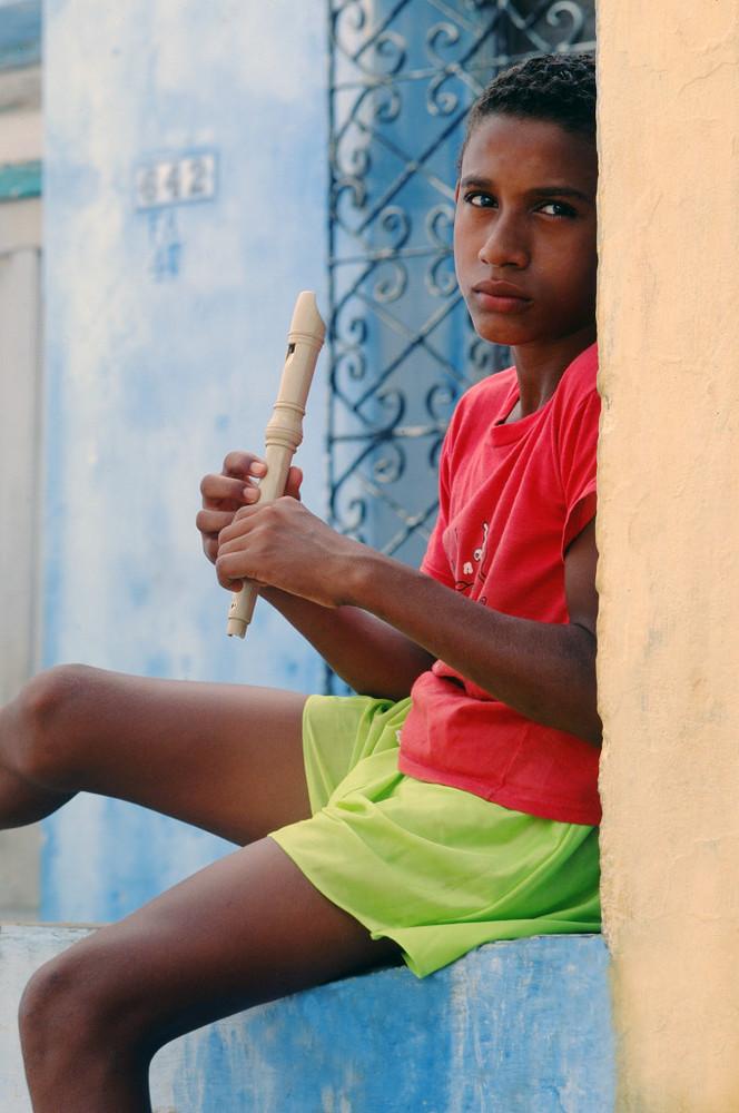 Antonio mit Flöte