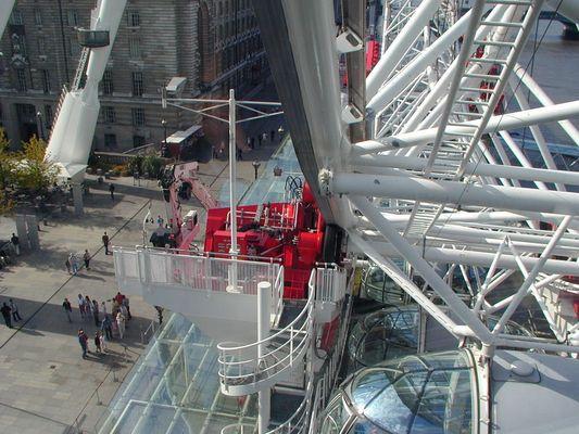 Antrieb des BA London Eye