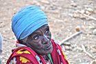 Anziana al mercato