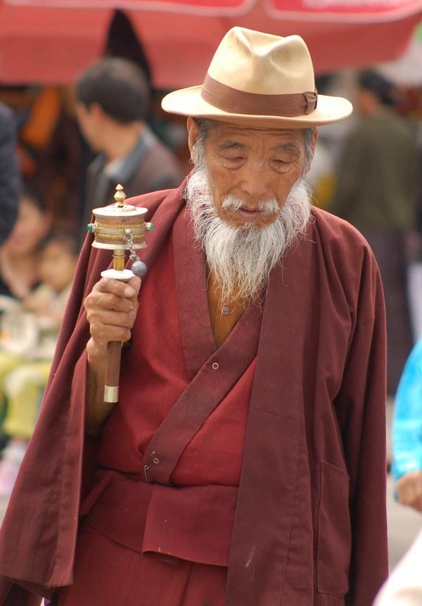 Anziano in Preghiera di Strada