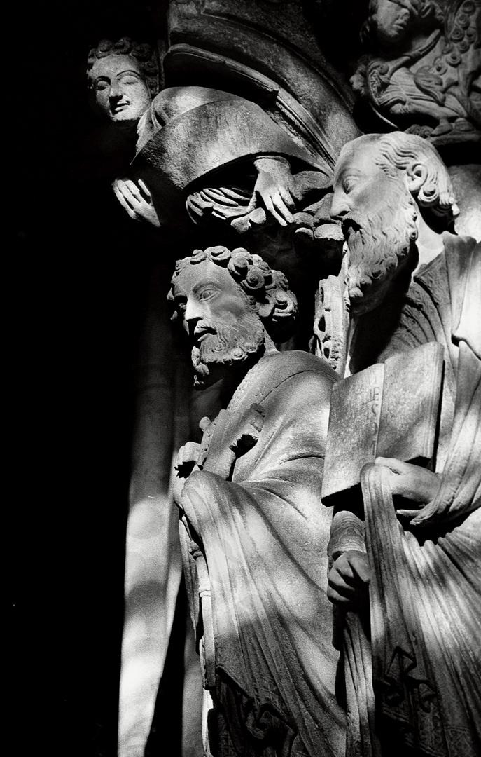 Año 1.975 - DETALLE DEL PORTICO DE LA GLORIA (CATEDRAL DE SANTIAGO)