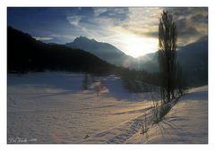 Aosta-Tal im Winter