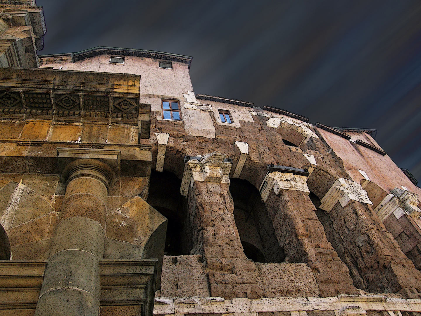 apartment on the ruins of ancient rome?
