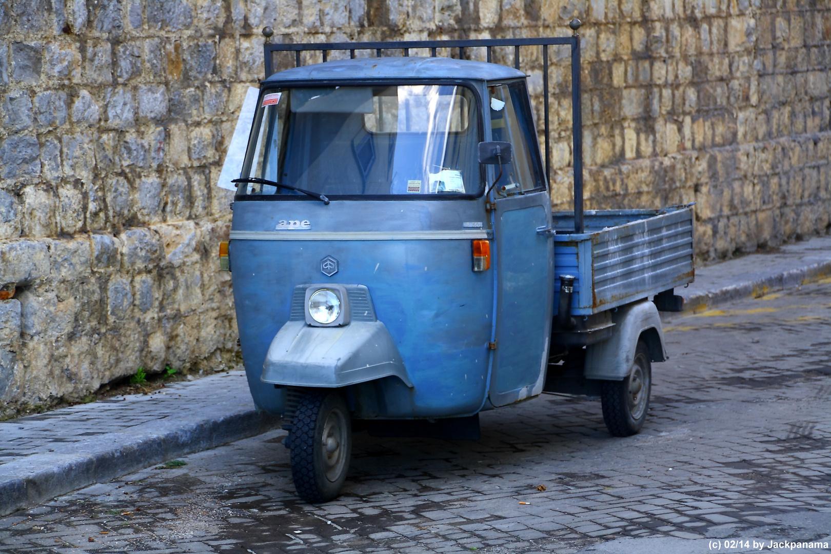 Ape, ein typisches italienisches Dreirad