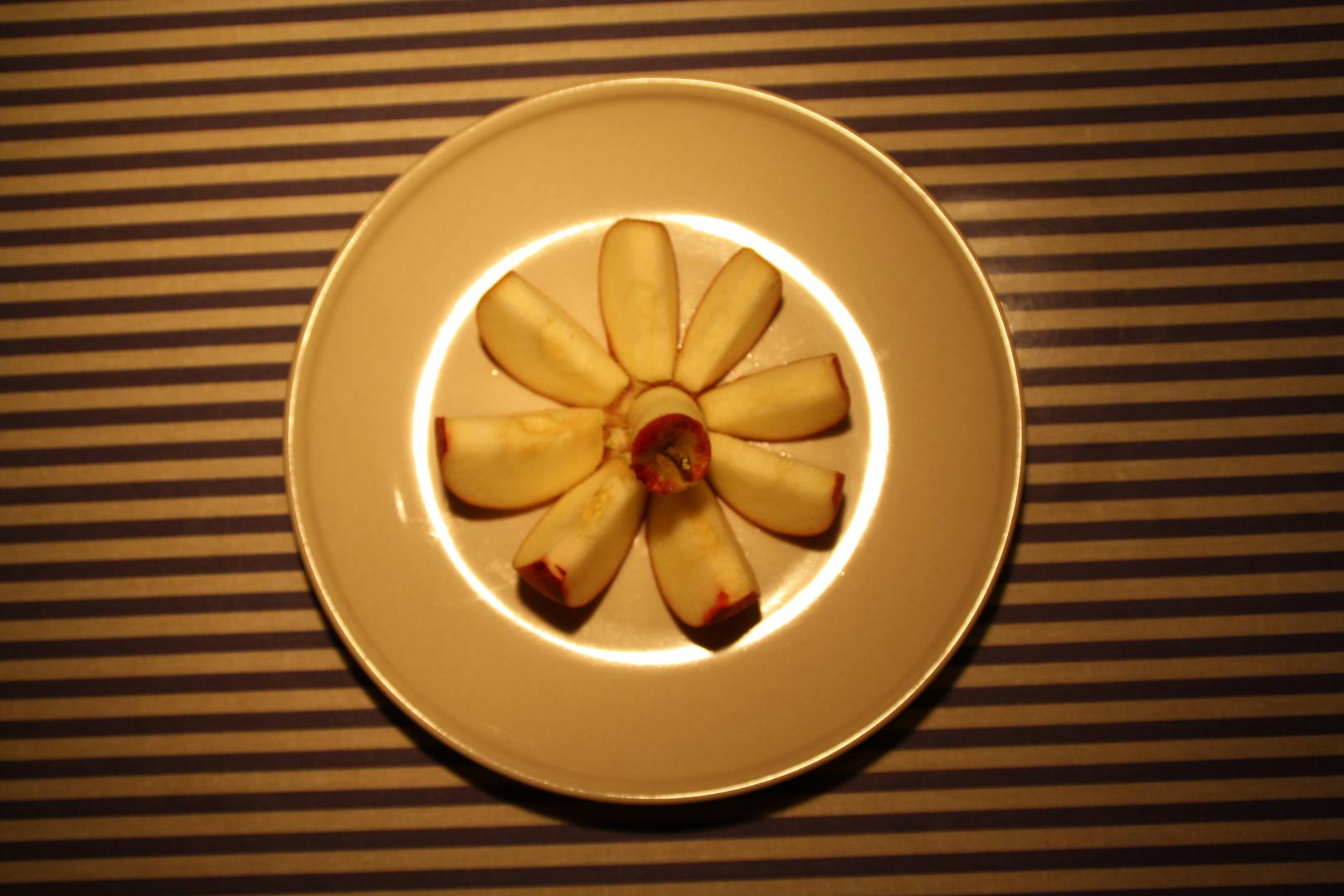 Apfel mit Lichtring