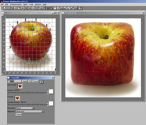 Apfel zum Quadrat