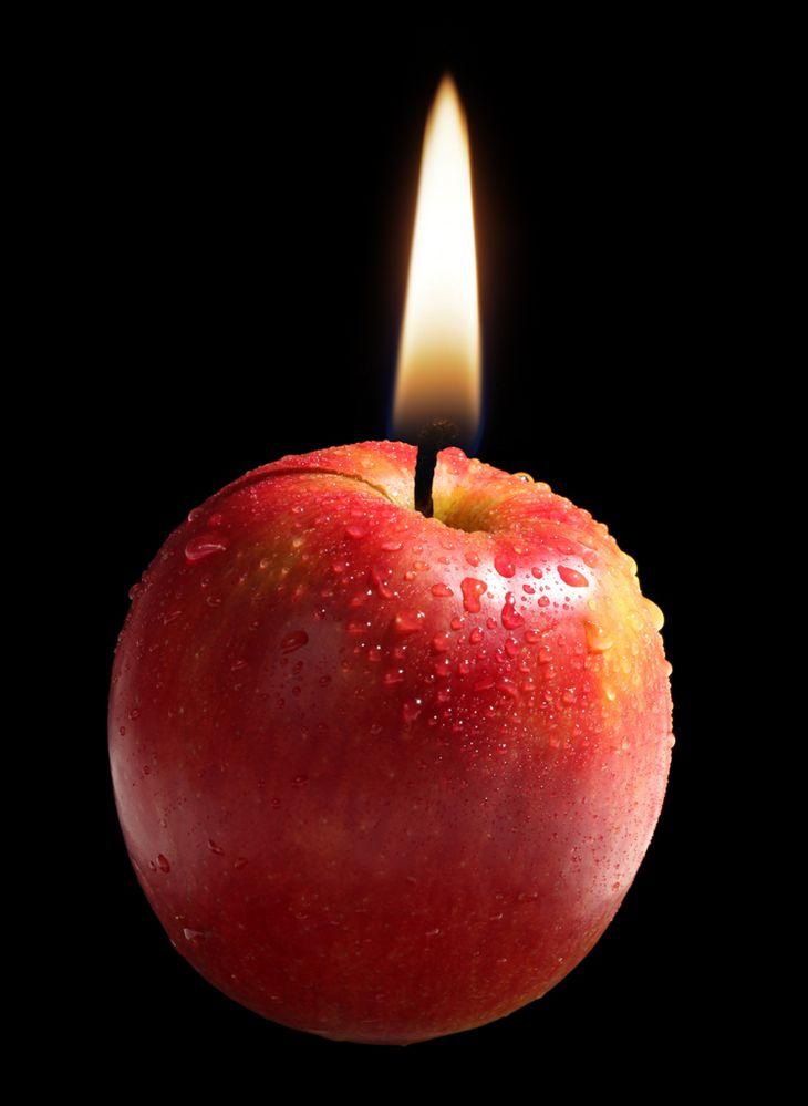 Apfelkerze von Peter Wienerroither