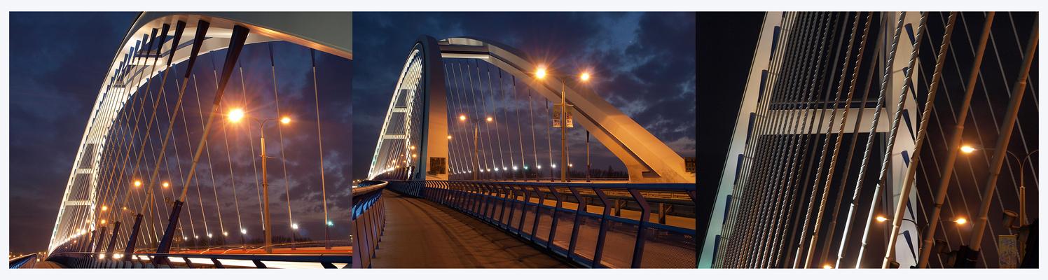 Apollo-Brücke in Bratislava bei Nacht