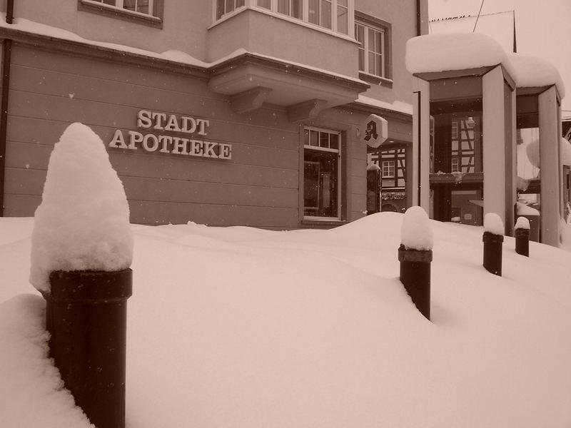Apotheke im Winter
