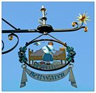 Appenzell - Schild eines Bettwaren-Geschäftes!