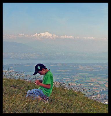 Apprentissage avec mon papy sur les Monts Jura