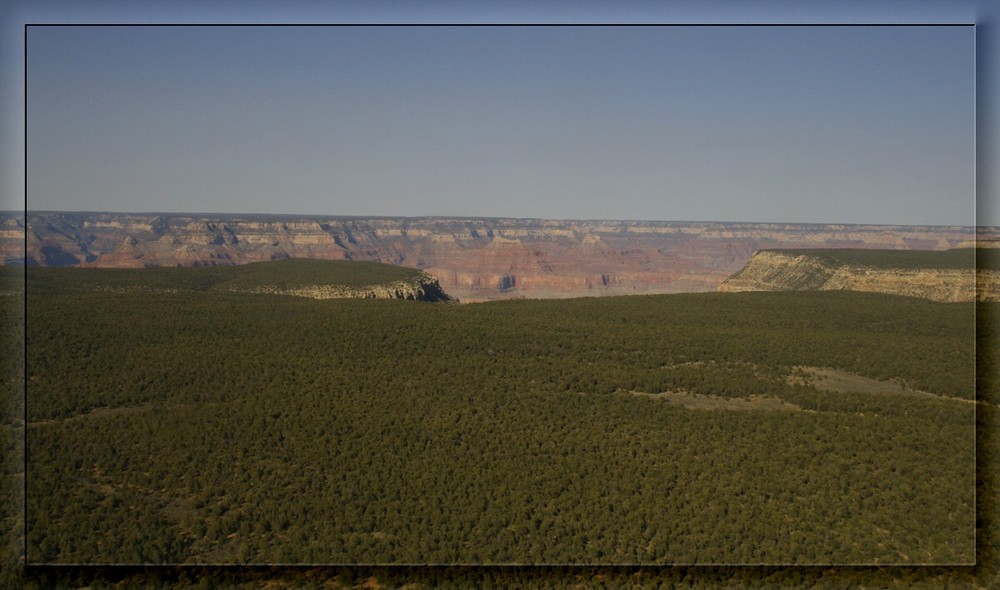 Approaching the South Rim of the Grand Canyon