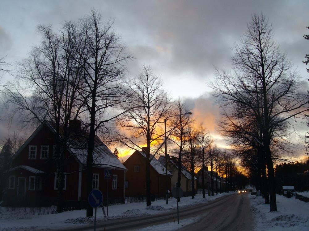 Après midi de janvier à Helsinki