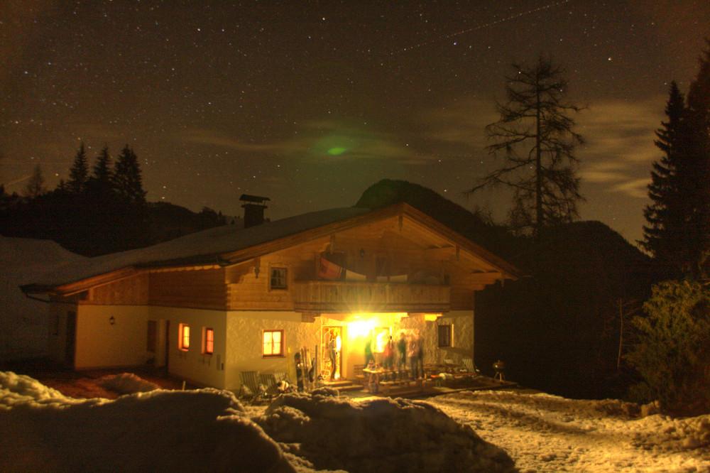 Apreski auf der Hütte mit UFO! :-)