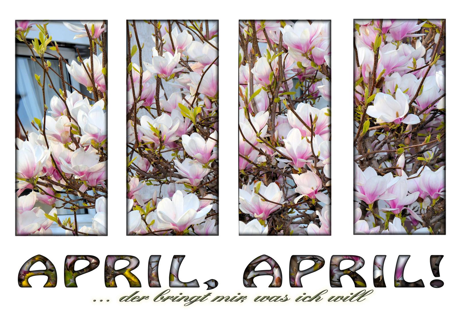 April, April der bringt mir, was ich will