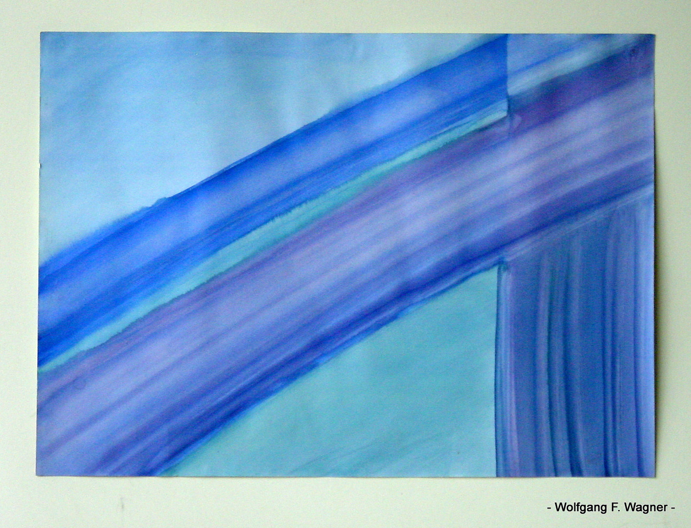 - Aquarell - Konstruktives nur in Blau - 1974 -