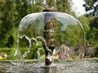 Aquarellartiger Brunnen