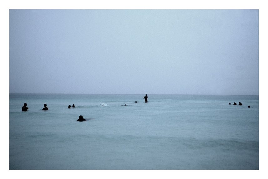 aquatische Landschaft mit Menschen