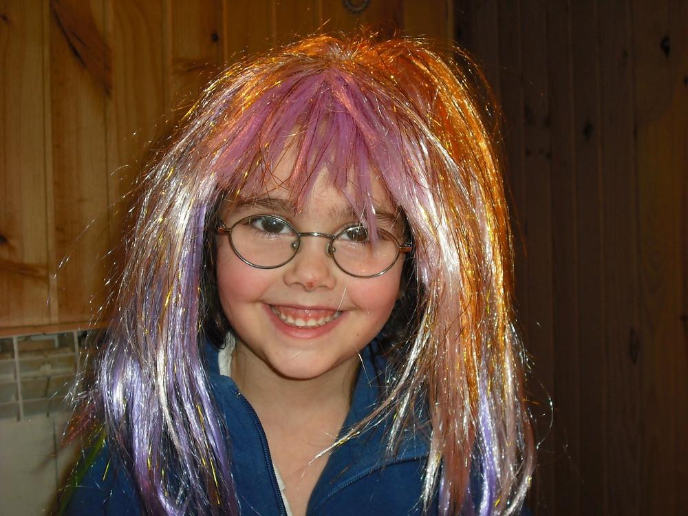 Aque me queda bien el pelo de tantos colores jeje