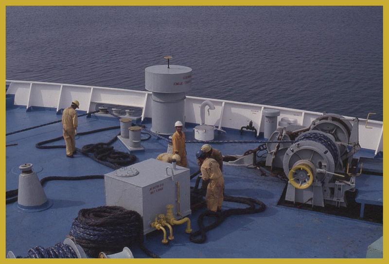 Arbeit an Bord