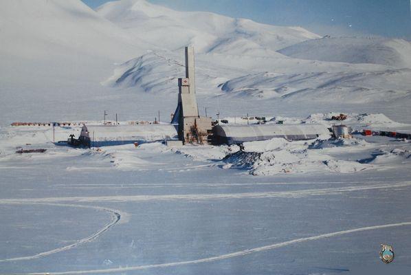 Arbeit auf Spitzbergen - Bohrturm T 43