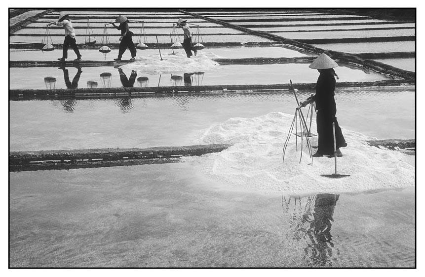 Arbeit in der Saline-Vietnam