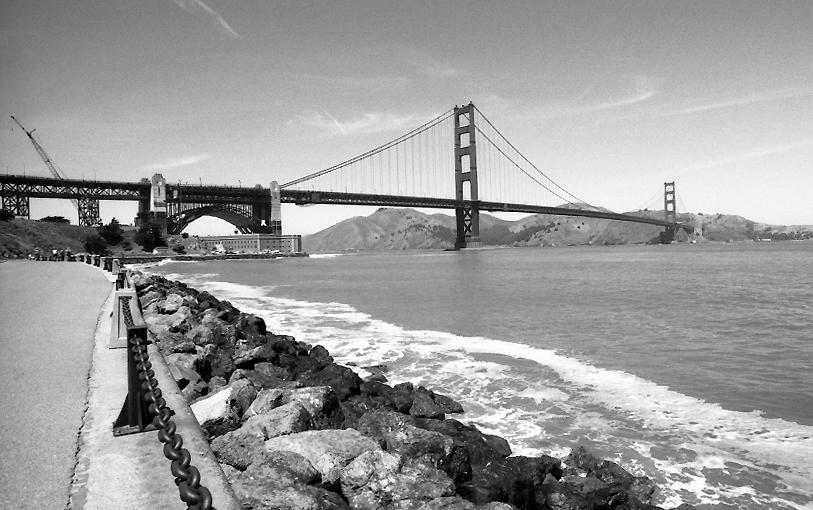 Arbeiten an der Golden Gate Bridge