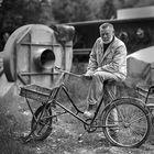 Arbeiter mit Rad