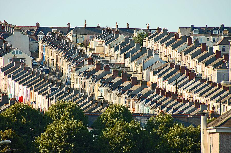 Arbeiterviertel in Plymouth / England