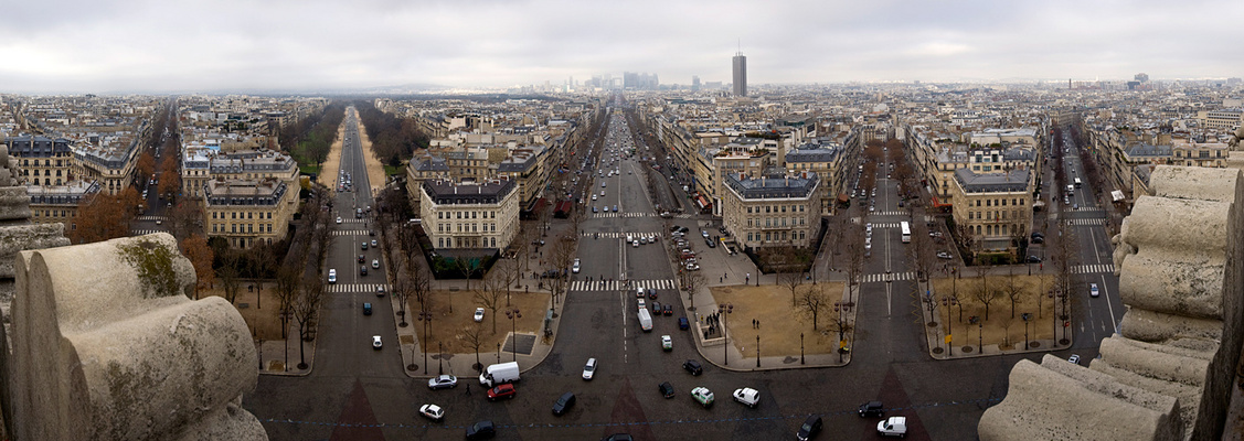 Arc de Triomphe - Pano nach Westen