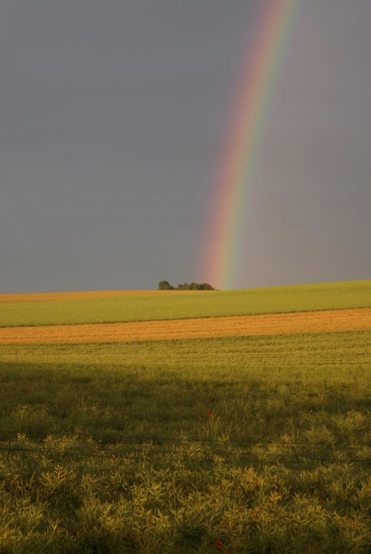 Arc en ciel sur la plaine de Fresne