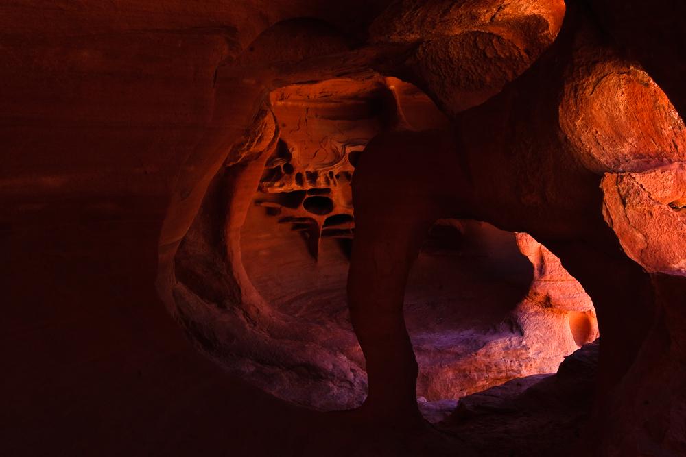 Arch in einer Höhle im Valley of Fire